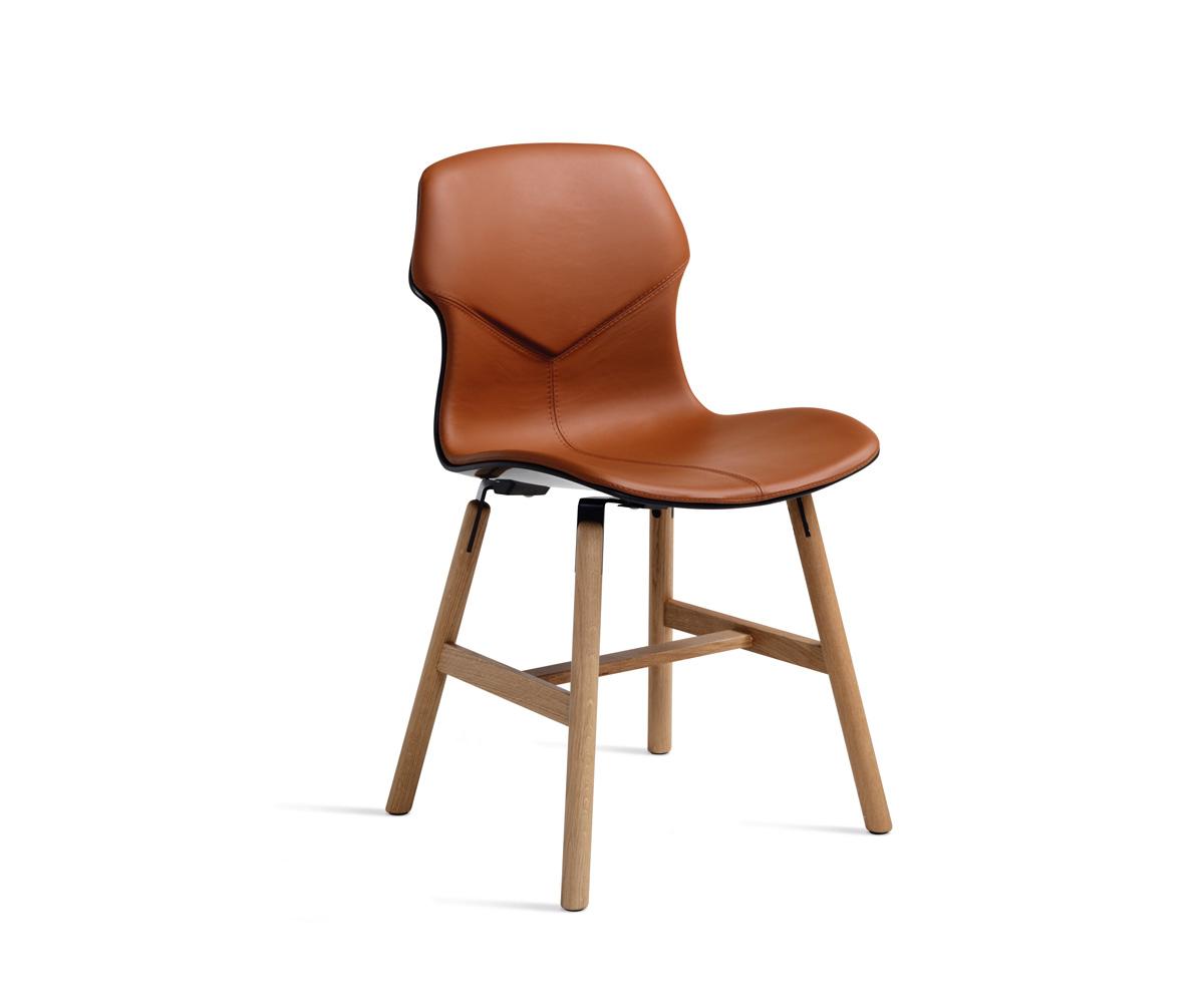 Chair Stereo Wood Imbottita Fronte-Retro